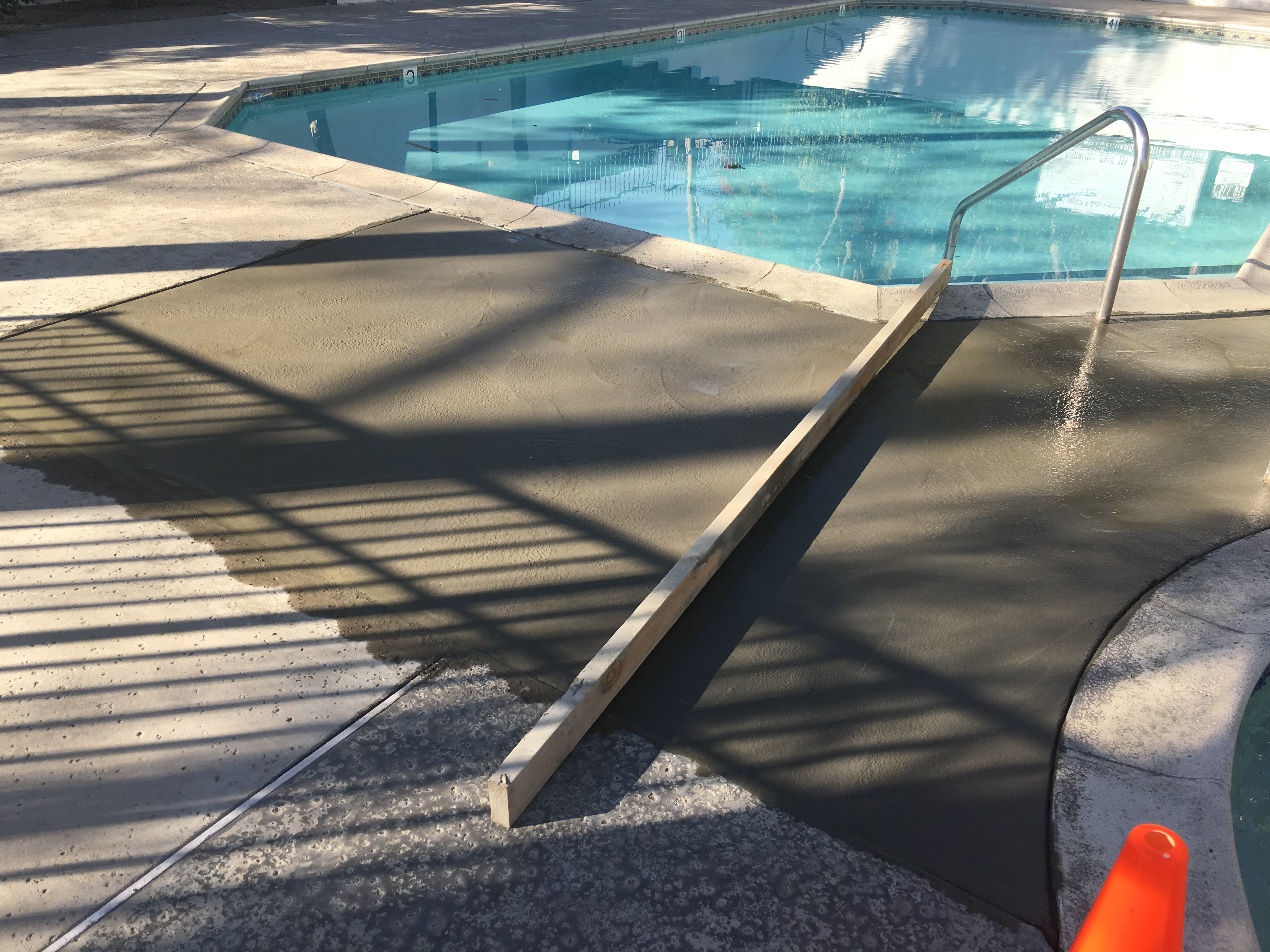 Slurry For Waterproofing Construction Joints In Pools : Repair and resurface of three residential pool decks